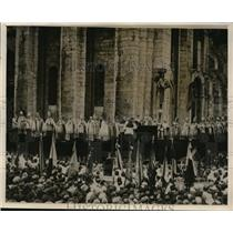 1927 Press Photo Chartres France Holds Festival Honoring Virgin Mary