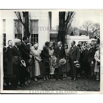 1932 Press Photo Betty Thompson Hanna Peach Queen to Meet President