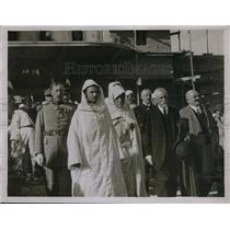 1928 Press Photo The Sultan of Morocco Accompanied by French Officials