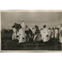 1929 Press Photo Young Sultan of Morocco Receives Homage of Thousans Kaide Tribe