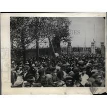 1930 Press Photo Mass Meeting of Workers at Vlassorka Shachty Coal Miners Russia