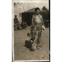 1930 Press Photo Ann Weiland of NYC models pajamas at Miami Beach - ney05743