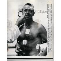 1961 Press Photo Astronaut Alan Shepard having body functions tested - ney06092