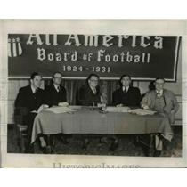 1931 Press Photo All-America Board of Football Executives Meeting, New York