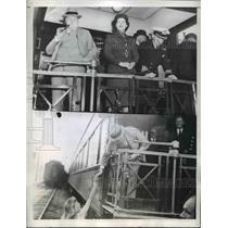 1943 Press Photo Winston Churchill Mary Churchill Joan Croswell - nee92881