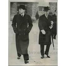 1938 Press Photo Geoffrey Lloyd and Maj.Fraser leaves Croydon Airdrome in London