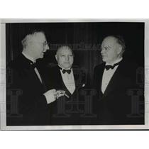 1938 Press Photo Hoover reception in Berlin, Hjalma Schaght, Dr Von Stauss