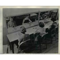 1939 Press Photo Textile Hi School Manicure Class at New York  - nee91024