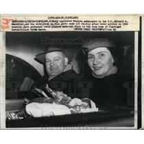 1958 Press Photo Russian ambassador to US Mikhail Menshikov & his wife