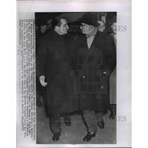 1955 Press Photo French Premier Pierre Mendes and Finance Minister Edgar Faure