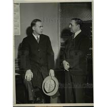 1933 Press Photo Assemblyman Herbert Brownell, Jr. Visits The Country Jail