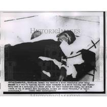 1956 Press Photo Israel Boy receive Blood transfusion after Egyptian Raid