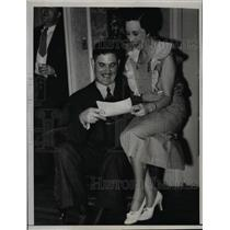1936 Press Photo Mr & Mrs John Bruce of Sanb Francisco  - nee92119