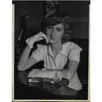 1937 Press Photo Evelyn Landau wife of Morris M Landau African Diamond Merchant