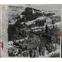 1947 Press Photo Palm Sunday procession from Bethany to Jerusalem - nee90998