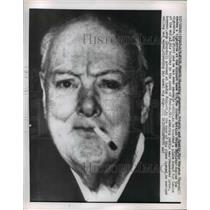 1959 Press Photo Former British Prime Minister Winston Churchill smokes