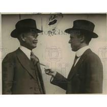 1920 Press Photo Tom Love Edwin Hobby - nee92601