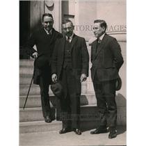 1921 Press Photo JE Lefevre of Panama, Narciso Garay & Julio Laffarque Secretary