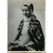 1933 Press Photo Mable J White chosen Queen of Michigan's Winter Carnival