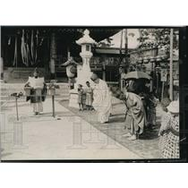 1920 Press Photo Japanese Shinto Priests offering prayers for festival