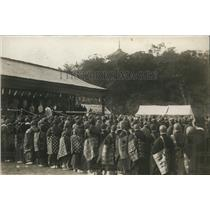 1923 Press Photo Japanese  People