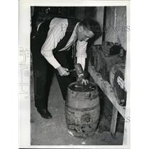 1940 Press Photo Russell Lena Blackburn Toronto Maple Leaf manager - net03636