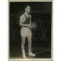 1925 Press Photo US Naval Academy basketball captain Herman O. Parish