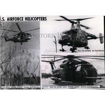 1969 Press Photo U.S. Force helicopters in Vietnam - spa22622