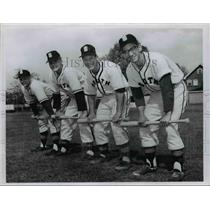 1959 Press Photo: South High School Base Ball Players  - cvb58455
