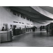1965 Press Photo Interior of ticketing building of Spokane International Airport