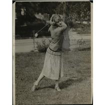 1923 Press Photo Maureen Orcutt at New Jersey Golf course - net05557