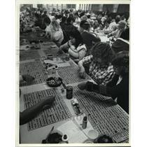 1982 Press Photo Big Buck bingo at Zeba, Michigan - mja06759