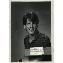 1988 Press Photo Christen Austad, Employee of Journal Sentinel Inc. - mja03607
