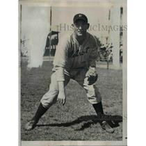 1939 Press Photo Detroit Tiger Alton Benton at spring training in Lakeland Fla