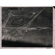 1936 Press Photo Aerial view of Roosevelt Raceway near Hempstead, New York