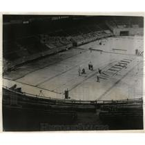 1955 Press Photo Madison Square Garden  install of ice rink for NY Rangers