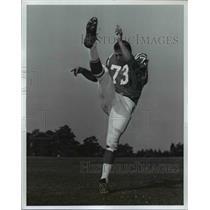 "1963 Press Photo Tom Gilburg -Guard 6'5"" 245 Syracuse - cvb64636"