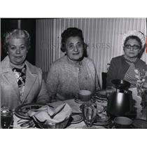 1969 Press Photo Mrs. Abe Soss, Mrs. Lue Soss and Mrs. Albert A. Diskin