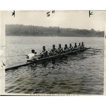 1928 Press Photo Harvard Vasity crew J De W Hubbard, Lawrence Dickie - net03069