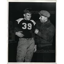 1937 Press Photo Austin High School star Bill De Correvont, coach Bill Heiland