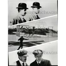 1981 Press Photo Flight by Wright Brothers recreated for The Winds of Kitty Hawk