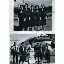 1983 Press Photo Frontier Airlines employees - spa23392
