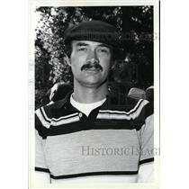 1981 Press Photo Air Traffic Controller Kyle Rice Spokane Airport Control Tower