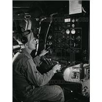 Press Photo The control knobs and dials on a Boeing B-29 - spa22279