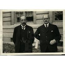 1921 Press Photo Jonkheer Ha A Van Karnebeek & Jonkheer F Beeleerta - nee93964