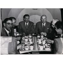 Press Photo Lunch at 13,000 feet: Civic officials and members of the press.
