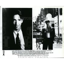 1992 Press Photo Ron Reagan Hosts See How They Run Documentary - spp00687