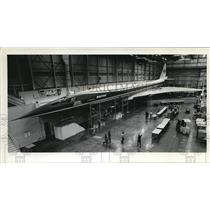 1971 Press Photo US Supersonic transport engineering mockup - ora99482