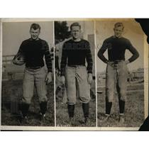 1913 Press Photo Princeton football players Schwartz, Hammond and Heynagan