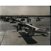 1965 Press Photo Planes parked in a new terminal in Spokane - spa21627